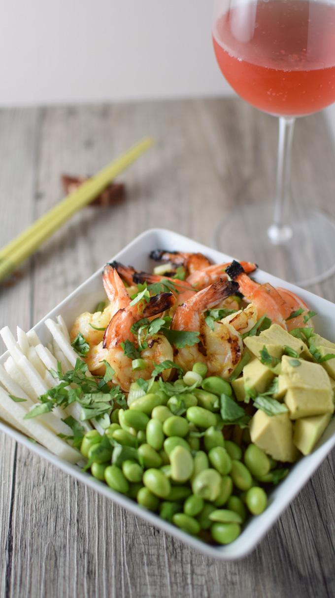 Shrimp and Udon Noodle Bowl