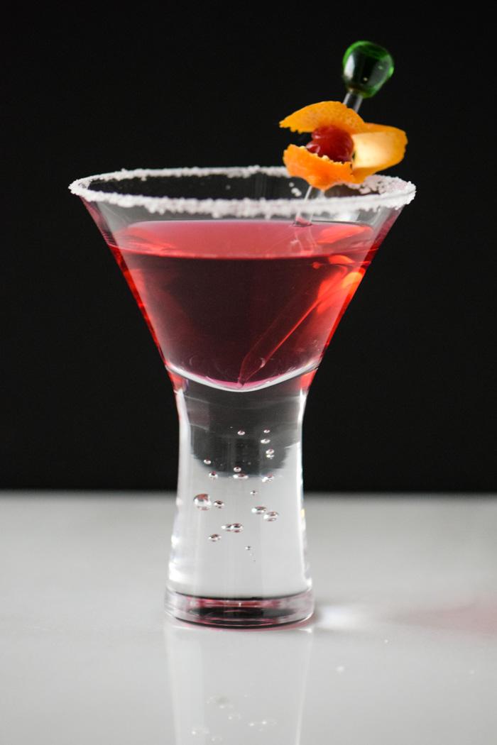 Cranberry infused vodka for Vodka martini