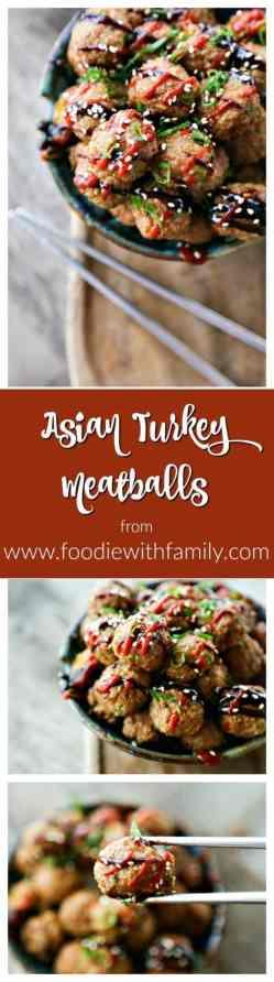 Small Of Asian Turkey Meatballs