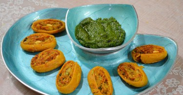 Aloo Bhakarwadi Recipe. Potato Bhakarwadi Recipe. Potato Pinwheels Recipe.