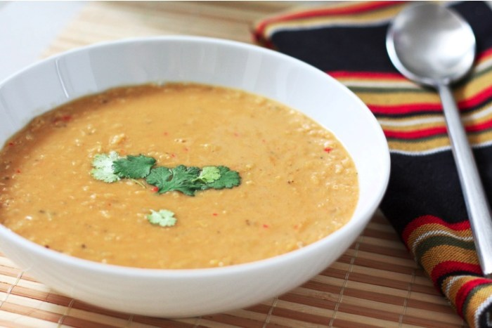 Spiced Coconut Lentil Soup Recipe