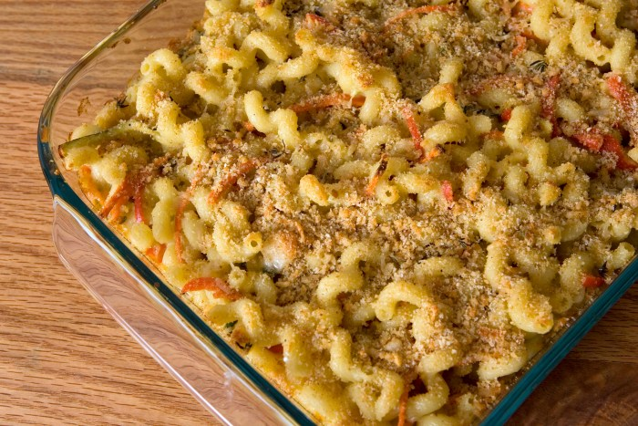 The perfect blend of creamy fontina and nutty gruyère makes for an unforgettable mac and cheese experience.
