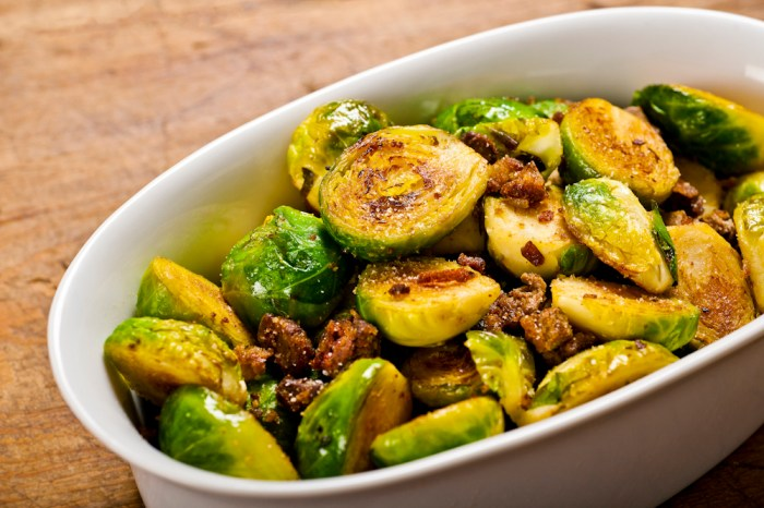 Brussels Sprouts With Fried Chicken Liver | Food Republic