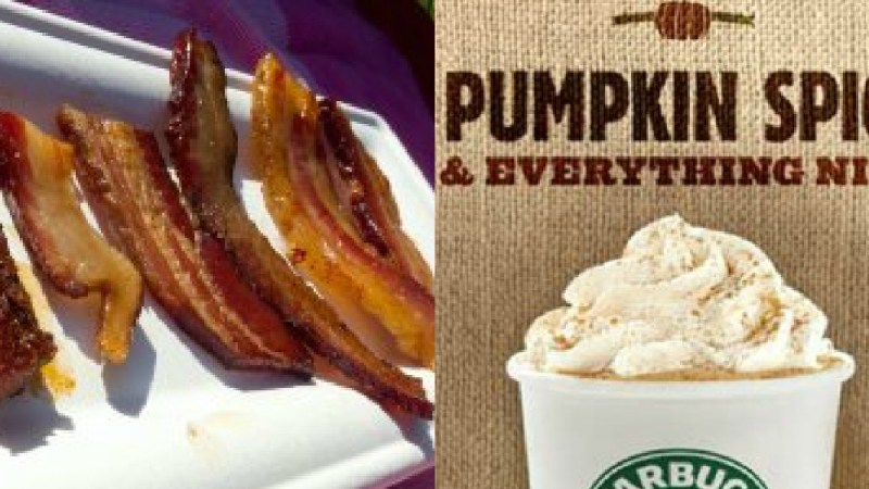 You can still expect to enjoy a bacon cheeseburger with that pumpkin spice latte.