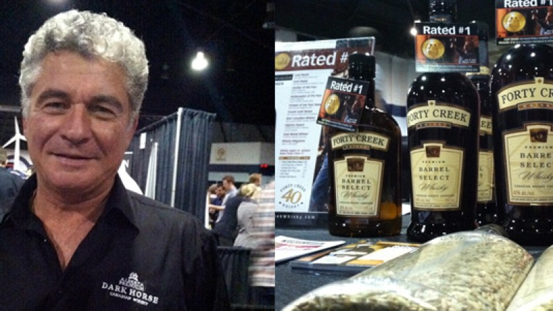 "Left to right: ""Godfather of Whisky"" Dan Tullio, Forty Creek display."