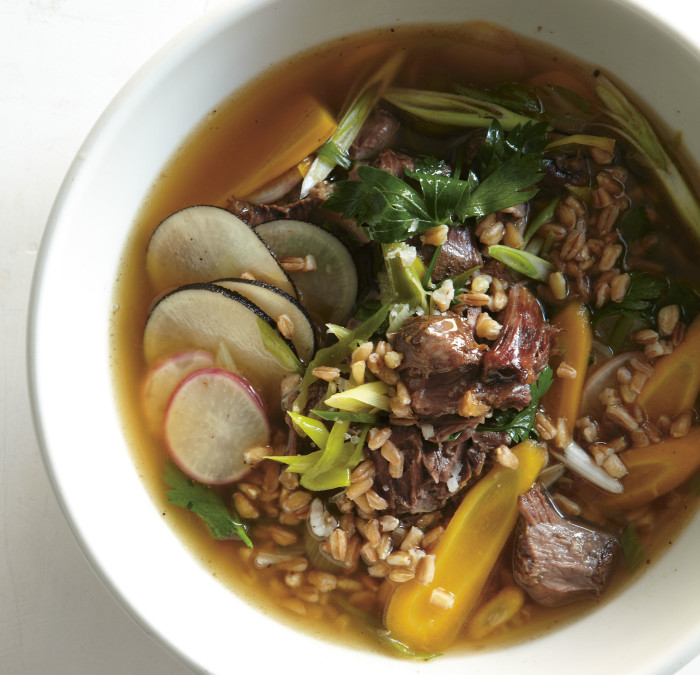 Beef Shin And Farro Soup Recipe