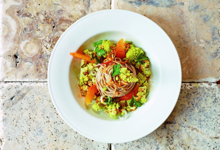Soba, Cauliflower And Blood Orange Salad Recipe