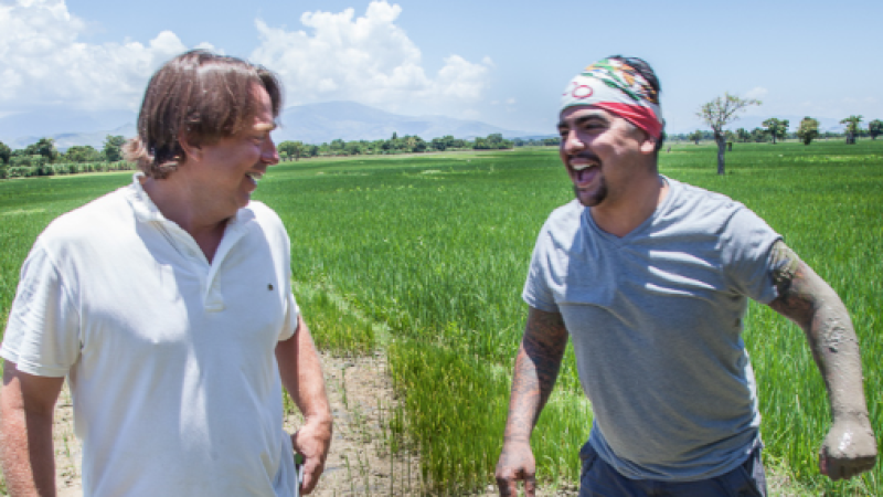 John Besh and Aarón Sanchez learned about Haitian cuisine and culture during their trip.