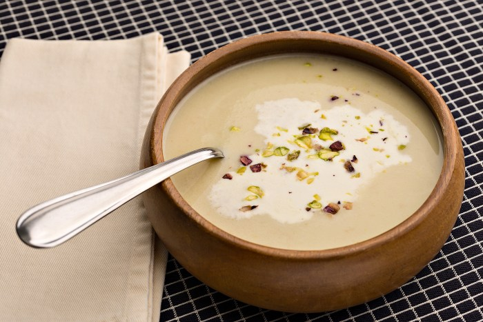 Creamy Celery Root Soup with Pistachios | Food Republic