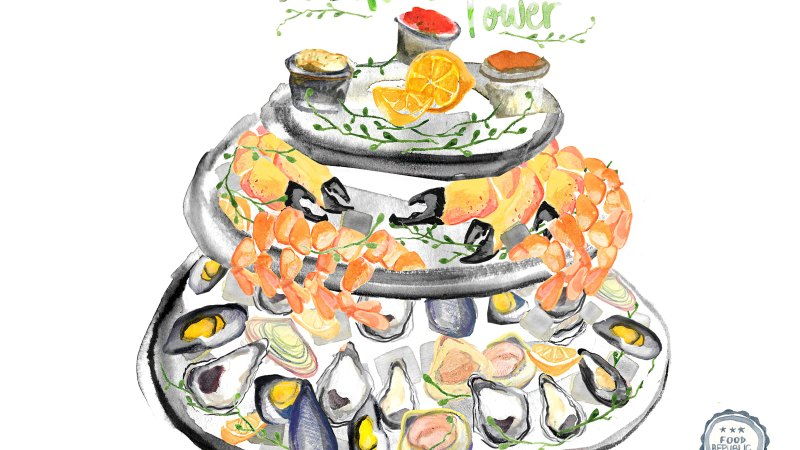 Illustrated Guide: How To Build A Seafood Tower
