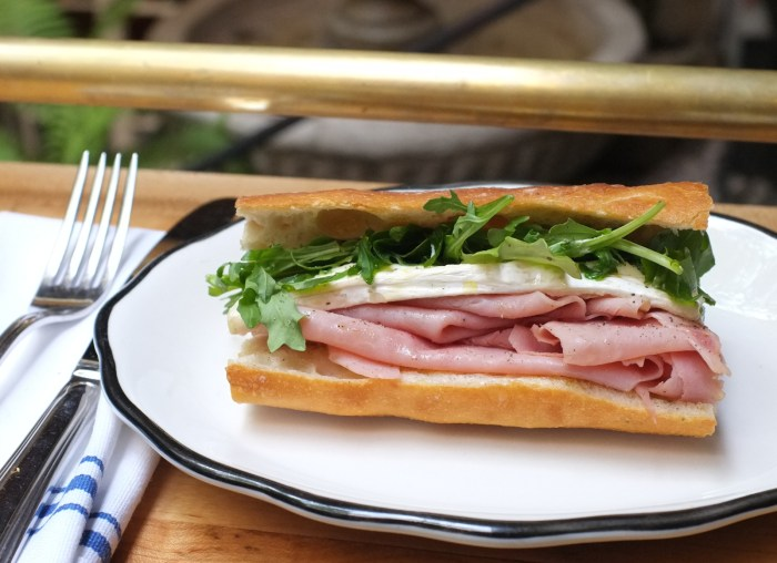 Go French! Ham Baguette With Camembert And Arugula Recipe ...