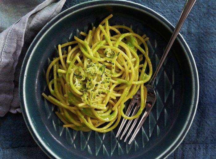 Add crispy zucchini to hot, cheesy pasta. (Photo: Lucy Schaeffer.)