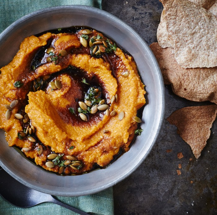 Carrot Mole With Toasted Pumpkin Seed Vinaigrette Recipe