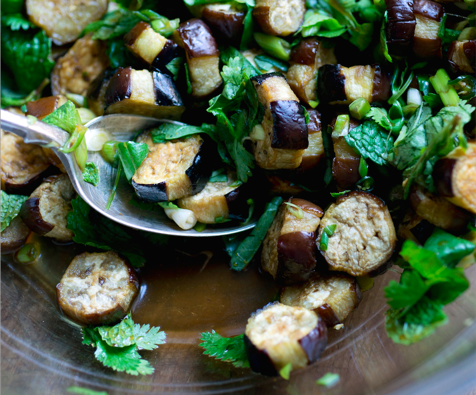 Thai style eggplant salad recipe food republic forumfinder Choice Image