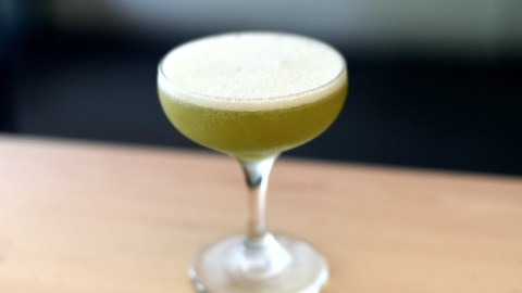 The Wakaba cocktail features green-tea-infused vodka, lemon and simple syrup. Photo: Michael Tulipan.