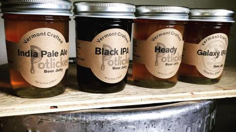 Potlicker Kitchen's IPA jelly offerings