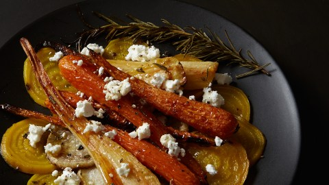 Roasted Fall Root Vegetable Salad With Fresh French Goat Cheese. (Photo credit: Geert Teuwen.)