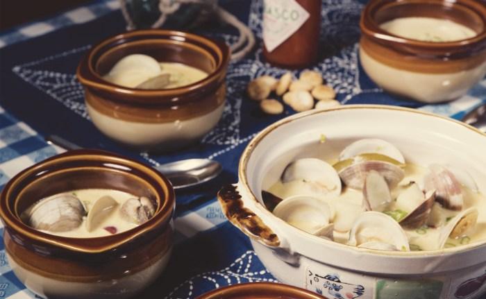... night with asian inspired creamy clam chowder recipe miso clam chowder