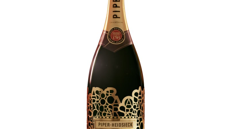 The label was designed by the 230-year-old French champagne makers Piper-Heidsieck.