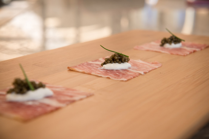 Quill_Proscuitto with Caviar