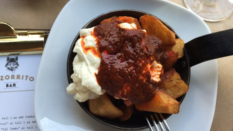 Classic patatas bravas at El Zorrito in Barcelona. (Photos: Edu González.)