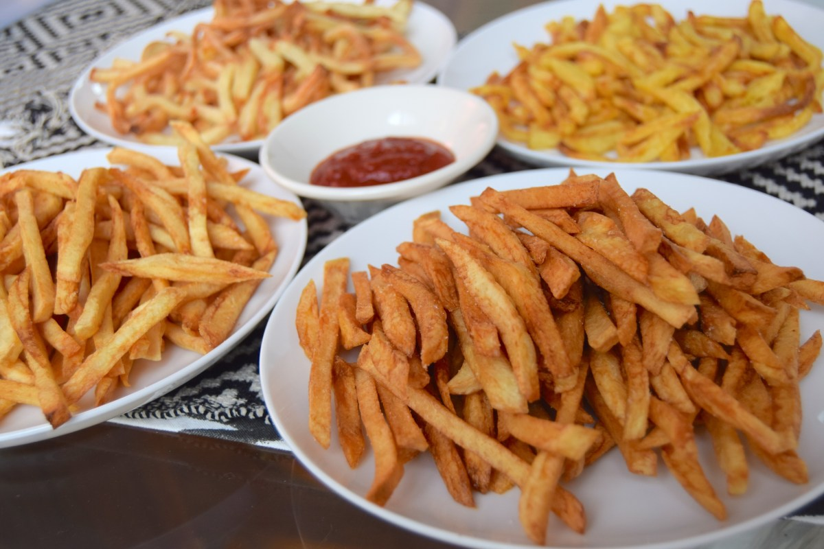 Air Fried Hot Dogs And French Fries