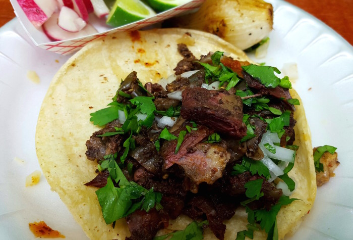 For tender goat tacos, venture out to Crusz Family Restaurant.