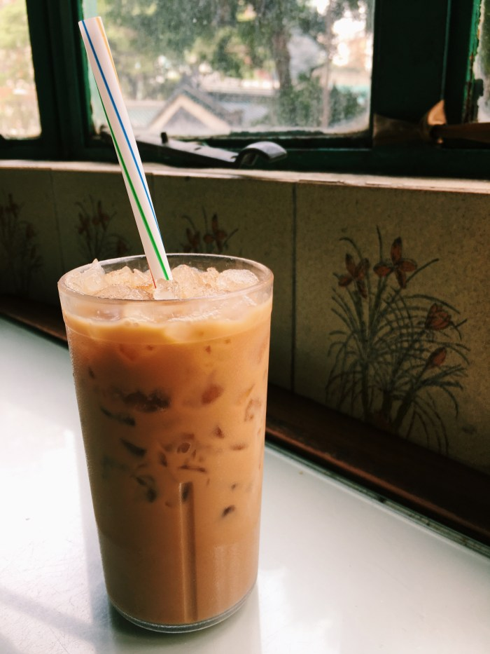 Hong Kong style iced milk tea.