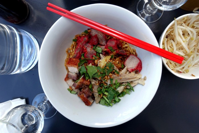 You can treasure some handmade noodles at Lao Douang Chan.