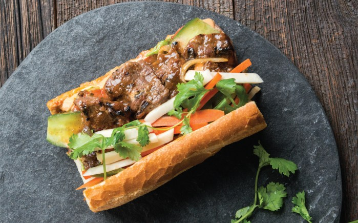 Bánh Mì With Tropical Marinated Flank Steak - Food Republic