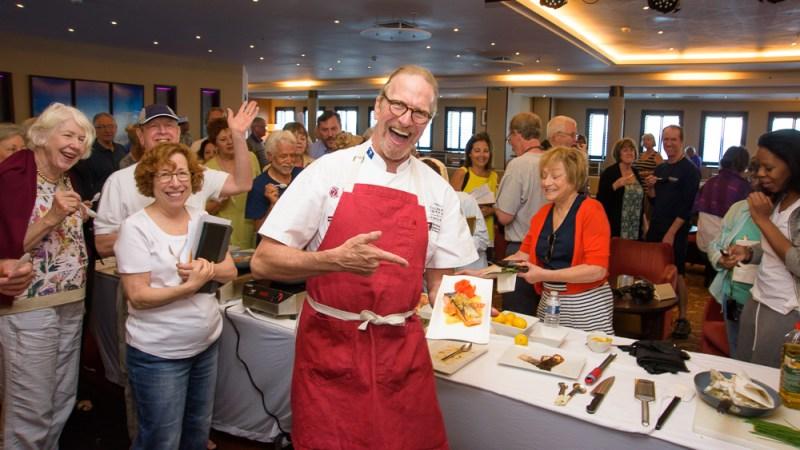 Three-time James Beard Award winner and chef Michel Nischan served as a culinary ambassador on the cruise. (Photo: Steve Schimmelman.)
