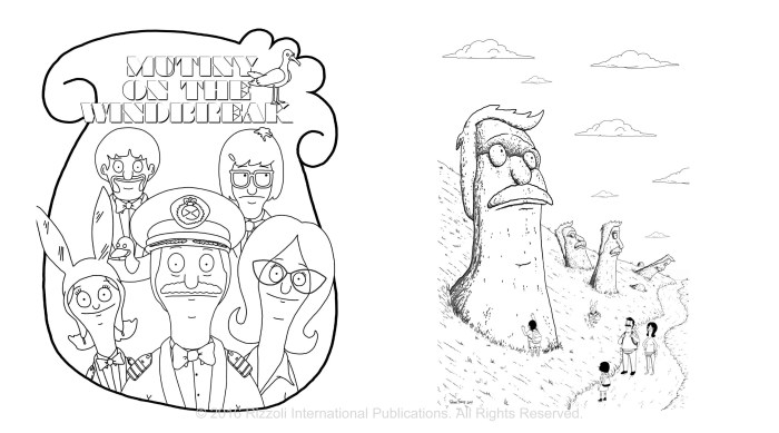 The Bob's Burgers Coloring Book_digitalexcerpt_spreads 8