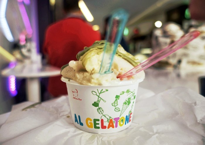 Fresh and raw ingredients make up the gelato at Al Gelatone.