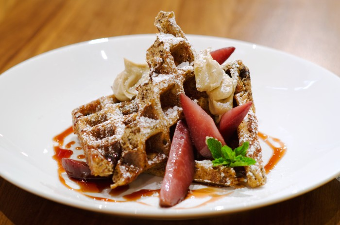 BloodPuddingWaffles by Chef Brad Farmerie of Public in New York CityJPG