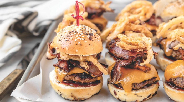 western bacon cheeseburger sliders recipe