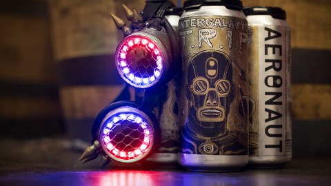 The Lights Out teamed up with Aeronaut Brewing Co. to create this beer. (Photo courtesy of The Lights Out.)