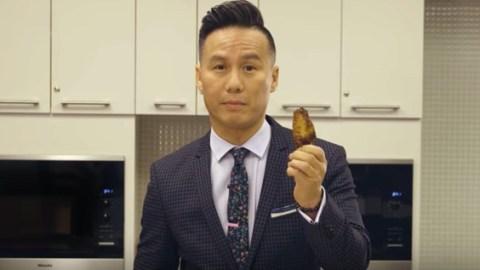 bd wong eats chicken wings