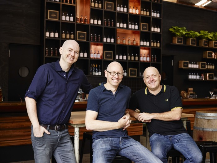 Four Pillars founders (from left): Matt Jones, Cameron MacKenzie, Stuart Gregor (Photo: Anson Smart.)