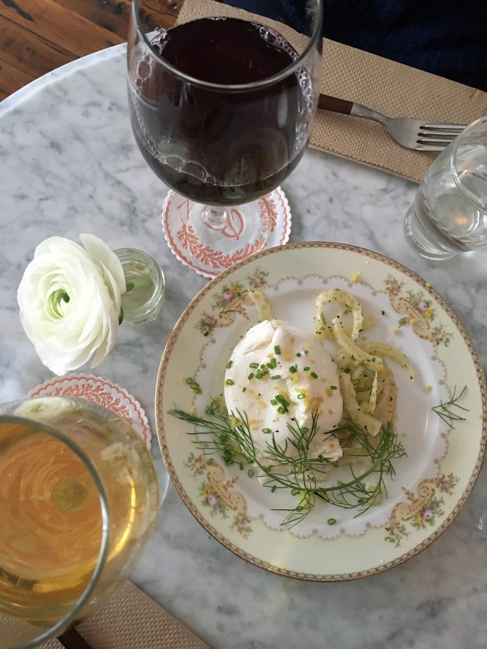 Brunette is the prettiest wine bar you'll find in Kingston, NY. (Photo: Tiffany Do.)