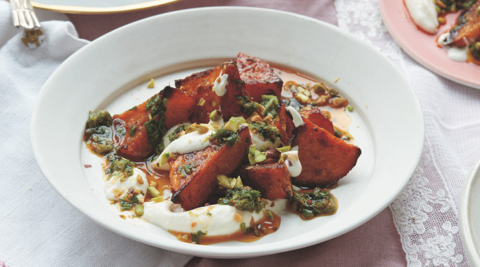 Squash With Whipped Feta