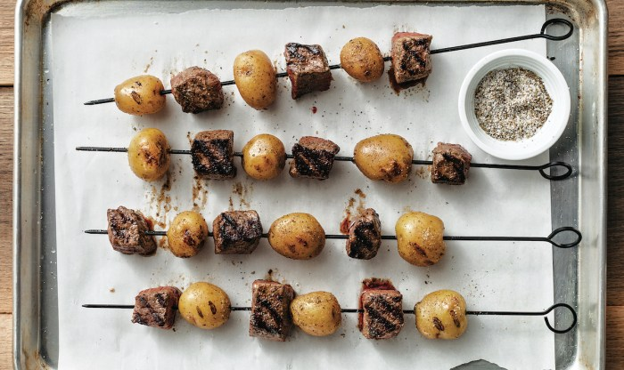Steak And Potato Kebabs