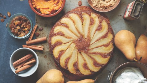 pumpkin upside-down cake