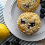 Lemony Blueberry Streusel Muffins