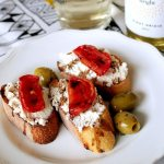 Homemade Ricotta and Slow Roasted Tomato Bruschetta