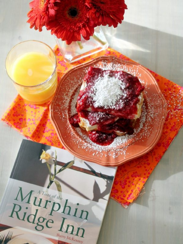 Murphin Ridge Stuffed French Toast with Raspberry Syrup