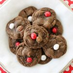 Double Chocolate Chip Cookies with White Chocolate Peppermint M&M's