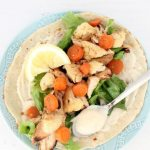 Healthy Chicken and Roasted Veggie Wrap