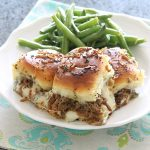 Slow Cooker Beef Sliders and Lemony Grilled Green Beans