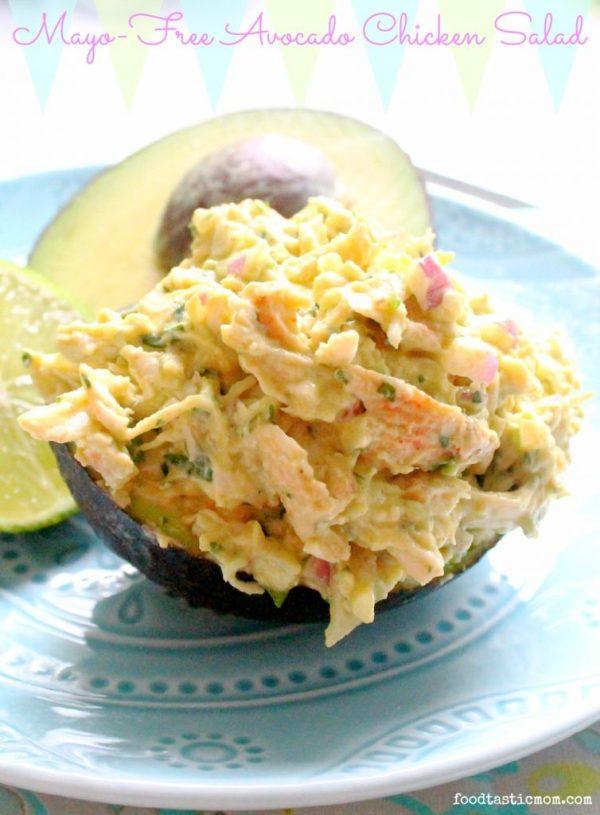 Mayo-Free Avocado Chicken Salad by Foodtastic Mom