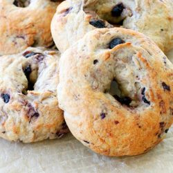 Blueberry Oat Bagels by Foodtastic Mom #bagels